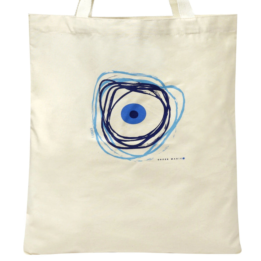 Evil Eye (Mati) Canvas Tote Bag