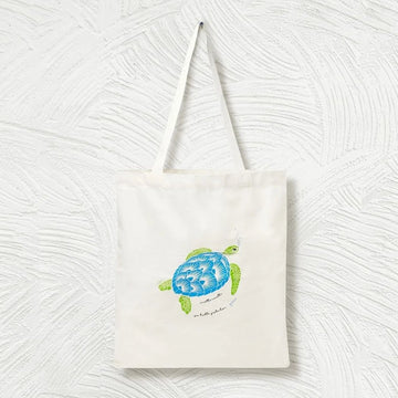 Turtle Canvas Tote Bag