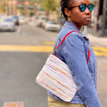 Sustainably Handmade & Vegan Clutch/Shoulder Bag