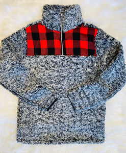 Buffalo Plaid Sherpa w Pockets