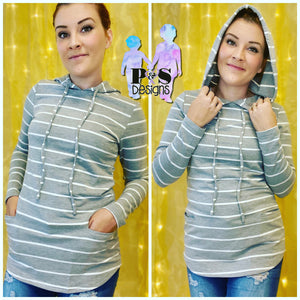 Hooded Striped Top