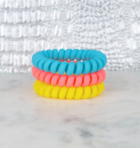 Pool Party Matte Set Hair Ties