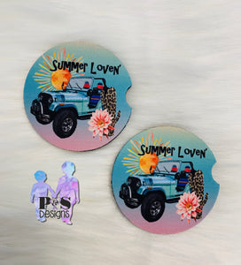 Summer Lovin' Car Coaster