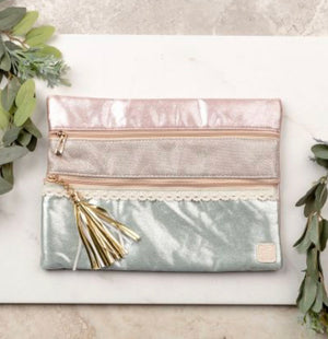 Pastel Passion Double Zipper Bag