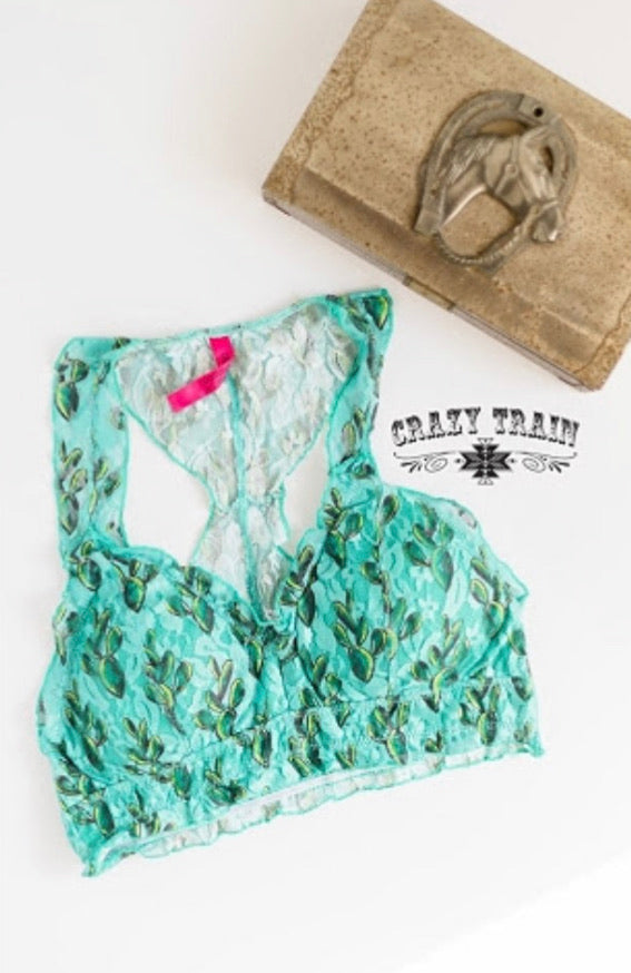 Crazy Train Cactus Bralette