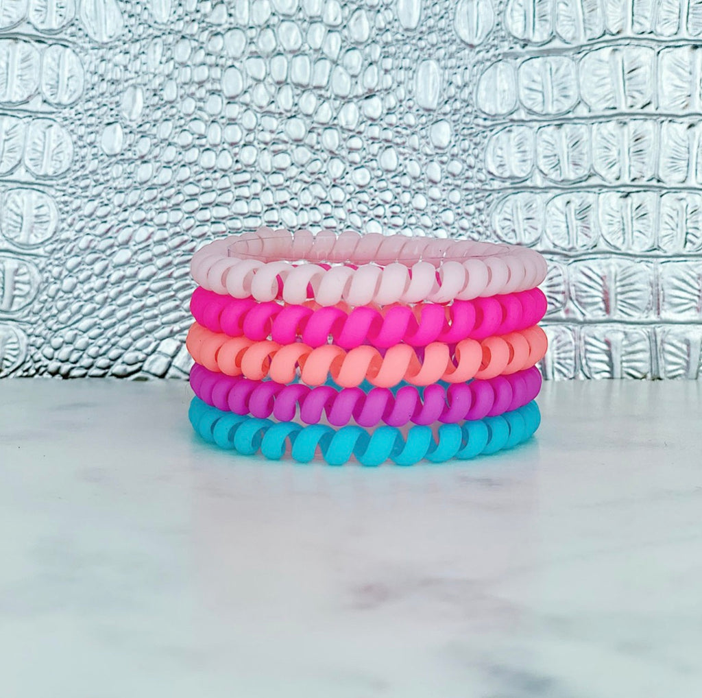 Paradise Matte Skinnies Hair Ties