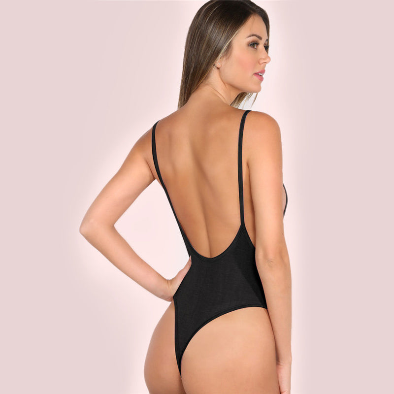 Black Strap Bodysuit