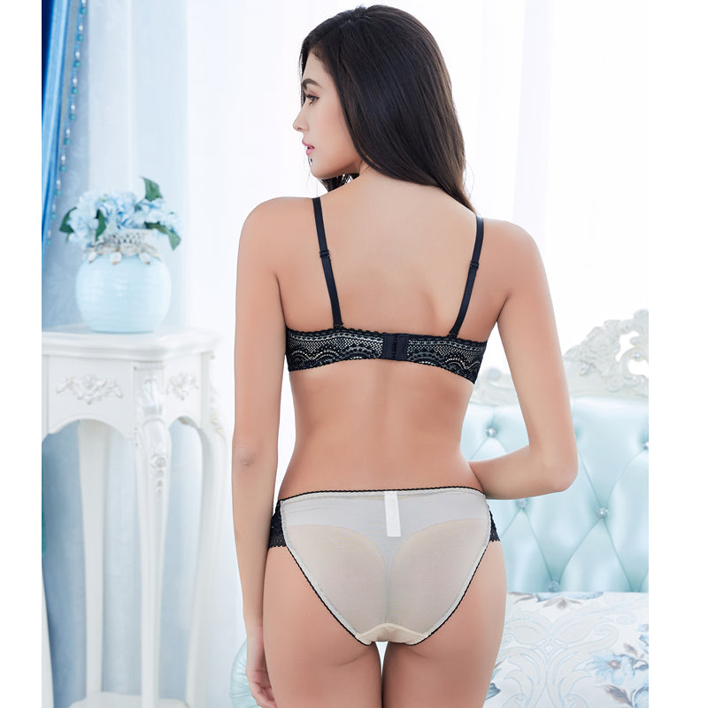 Half Cup Ultra - Thin Lace Set