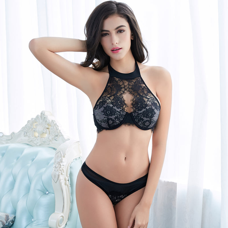 New Palace Eyelash Lace Lingerie Set