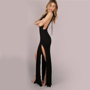 Sexy Double Slit Long Dress
