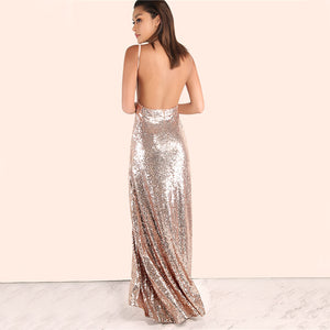 Rose Gold Sequin Party Dress