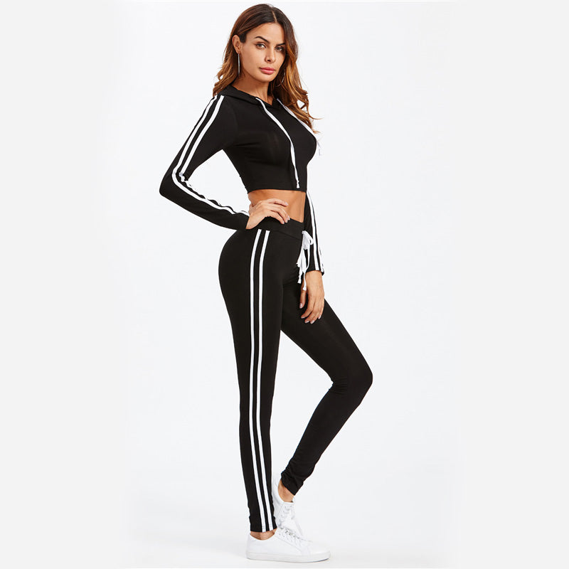 Double Lane Stripe Tracksuit