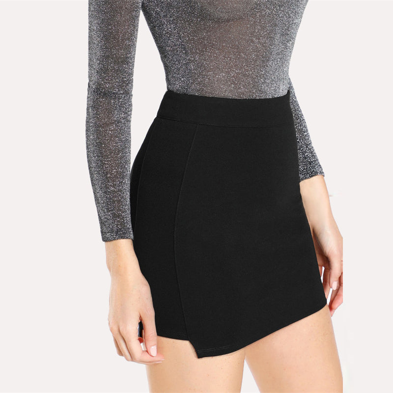 Mid Waist Zip Mini