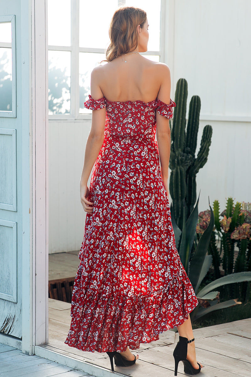 Off Shoulder Floral Maxi