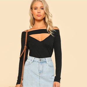 Long Sleeve Cut Out Top