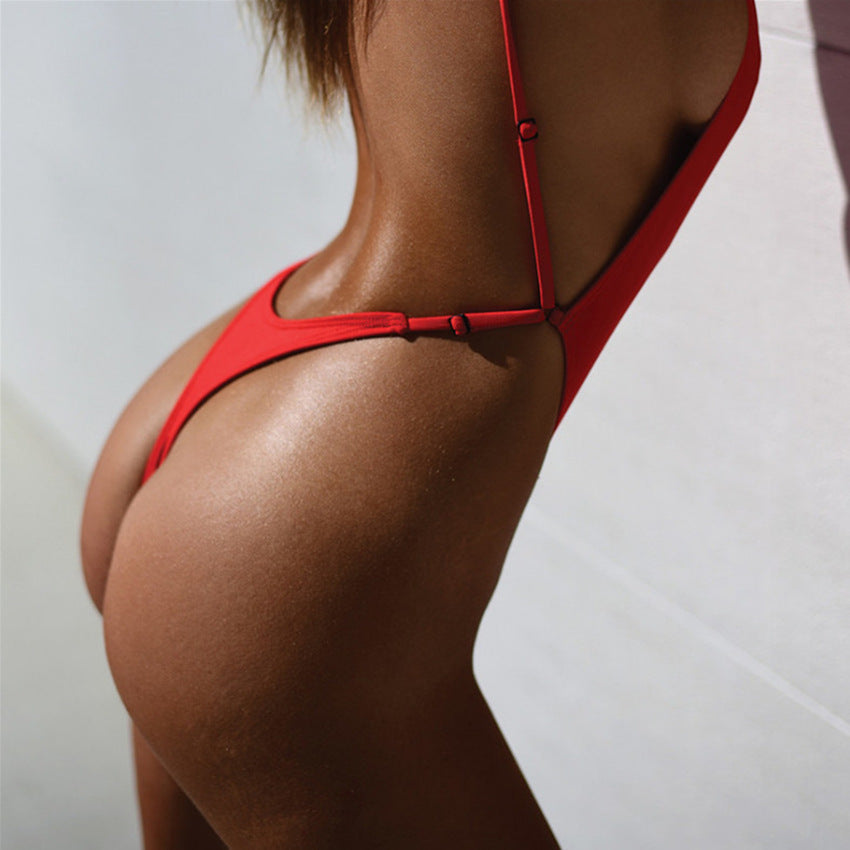 One Piece Solid Thong