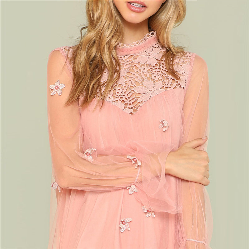 Pretty in Pink Lace Dress