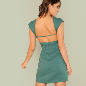 Cut Out Backless Dress
