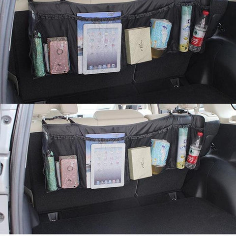 Durable Car Organizer Back Rear Trunk Seat Elastic Tidy Organizer
