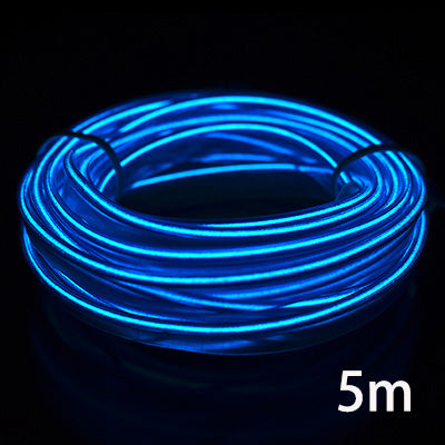 3m/5m Car LED Strips Decoration Strip 12V Flexible Neon EL Wire Rope