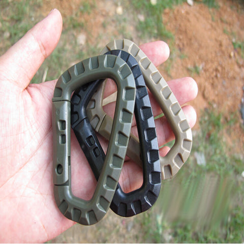 Image of 10pcs Medium Tactical Outdoor Carabiner Hook Backpack
