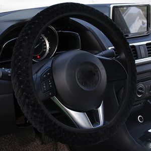 Universal Car Steering Wheel Cover Winter Soft Warm Plush