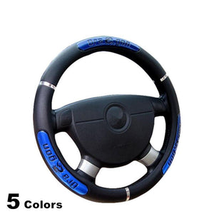Hot Sell Drangon Design Faux Leather Auto Car Steering Wheel Cover