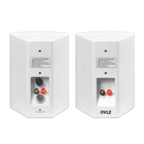 Pyle PDWR61BTWT White Wall Mount Waterproof and Bluetooth 6.5-inch Indoor / Outdoor Speaker System