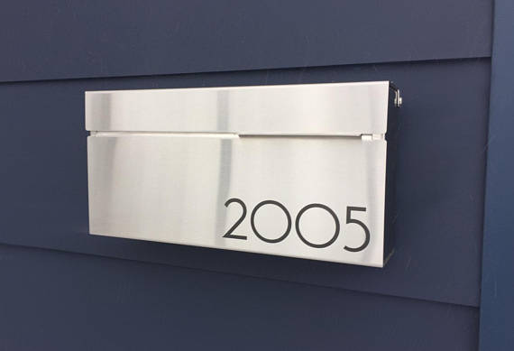 Brakala | Modern and contemporary mailbox LOUIS S- stainless steel Wall Mount mailbox