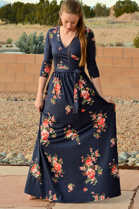 Lace Waterfalls Floral Maxi Dress