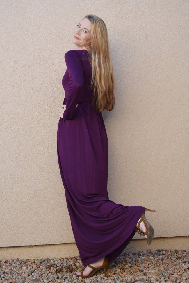 Plum Lucky Maxi Dress