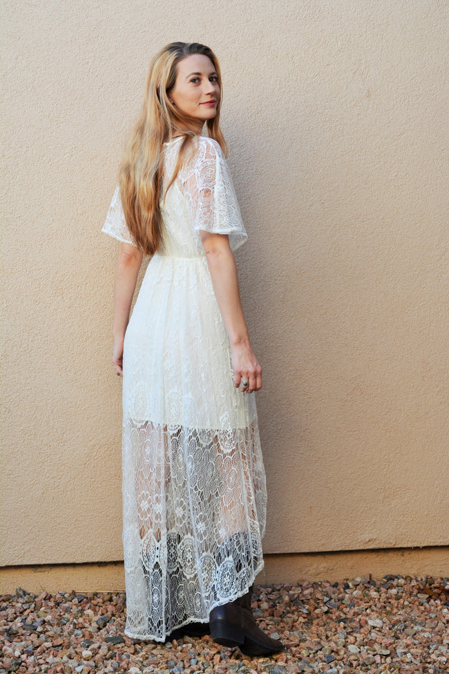 Desert Wanderer Lace Dress - Off White