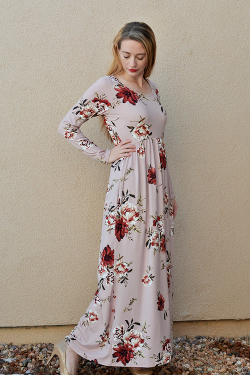 Blushing Rose Maxi Dress