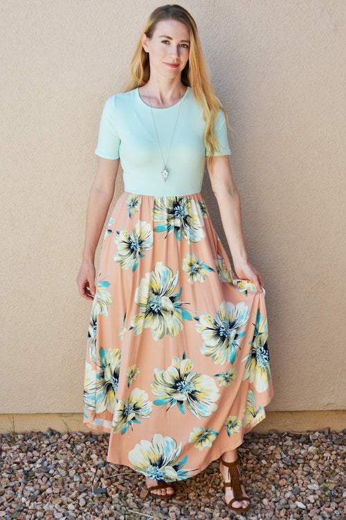 Summer Florals Petite Maxi Dress
