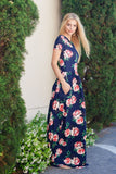 Summer Breezes Navy Maxi Dress