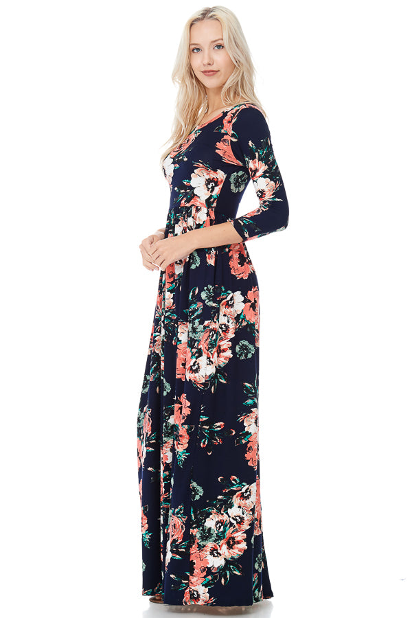 Watercolor Wishes Floral Maxi Dress