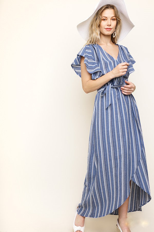 Take Me to the Sea Striped Dress