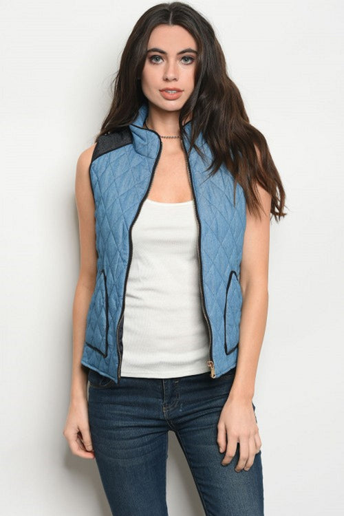 Open Skies Quilted Vest