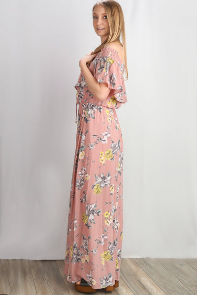 Dusty Blush Maxi Dress
