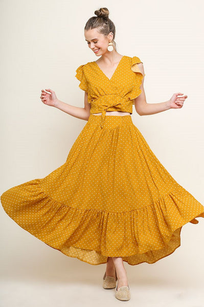 Dancing Dreamer Two Piece - Mustard