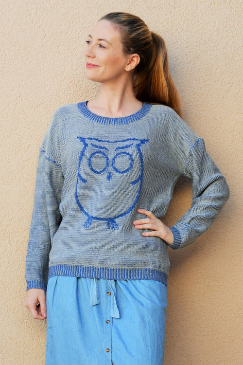 Owl Oversize Knit Sweater