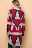 Red Mesa Aztec Cardigan