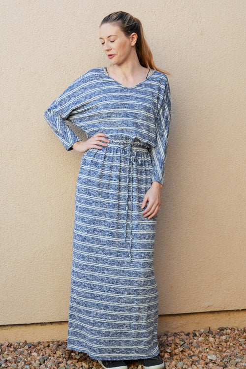 Heather Blue Striped Lounge Dress