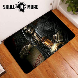 SnM - Tempted Judgement Skull Door Mat