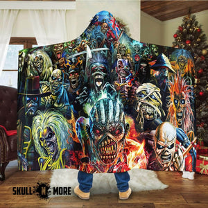 Skull Iron Maiden #1025-35 Hooded Blanket