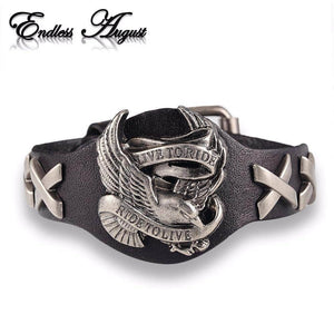 Wolf Skull Retro Leather Bracelet