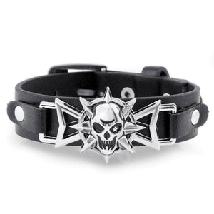 Skull Star Gothic Rock Leather Bracelets