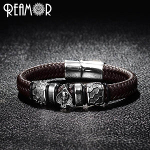 Punk Style Skull Leather Bracelets