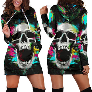 SnM - Colorful Night Scream Hoodie Dress
