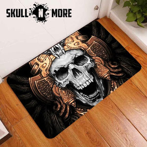SnM - Golden Crown Skull Door Mat